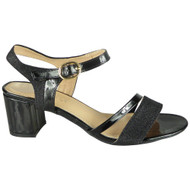 Tisha Black Wedding Bridal Party Sandals