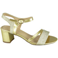 Tisha Gold Wedding Bridal Party Sandals