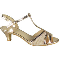 Lora Champagne Wedding Peep Toe Sandals