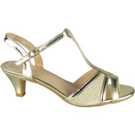 Lora Gold Wedding Peep Toe Sandals