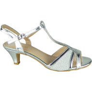 Lora Silver Wedding Peep Toe Sandals