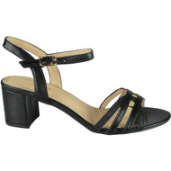Loreen Black Wedding Peep Toe Sandals