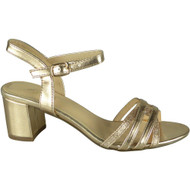Loreen Champagne Wedding Peep Toe Sandals