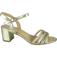 Loreen Gold Wedding Peep Toe Sandals