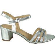Loreen Silver Wedding Peep Toe Sandals
