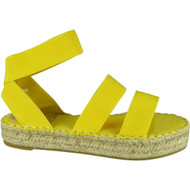 Loraine Yellow Summer Elastic Peep Toe Sandals