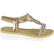Georgina Champagne Summer Comfy Elastic Sandals