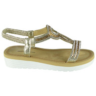 Georgina Gold Summer Comfy Elastic Sandals