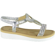 Georgina Silver Summer Comfy Elastic Sandals