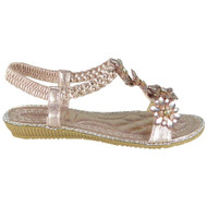 Marietta Pink Bling Summer Comfy Sandals