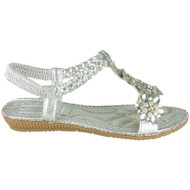 Marietta Silver Bling Summer Comfy Sandals