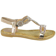 Eunie Champagne Bling Summer Comfy Sandals