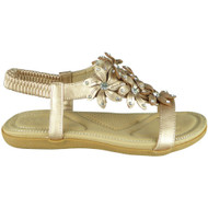 Keti Champagne Bling Summer Comfy Sandals
