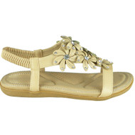 Keti Beige Bling Summer Comfy Sandals