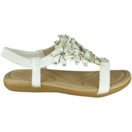 Keti White Bling Summer Comfy Sandals