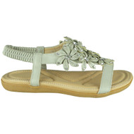 Keti Grey Bling Summer Comfy Sandals