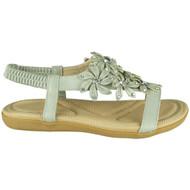 Keti Grey Bling Summer Comfy Sandals