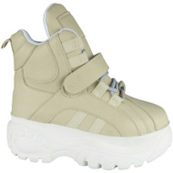 Carlotta Beige Chunky High Top Trainers Shoes