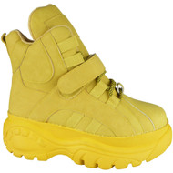 Carlotta Yellow new Chunky High Top Trainers Shoes