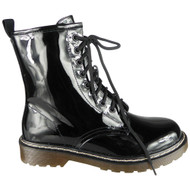 Maurine Black New Chunky Shiny Goth Punk Shoes