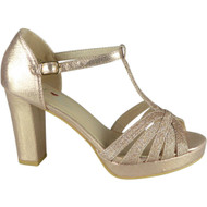 Kristi Champagne Wedding Party Sandals