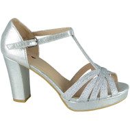 Kristi Silver Wedding Party Sandals