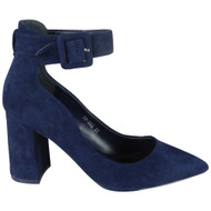Jana Blue High Heel Office work Court shoes