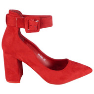 Jana Red High Heel Office work Court shoes