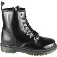 Maurine Black  Shine Chunky Shiny Goth Punk Shoes