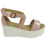 Karlee Pink Peeptoe Platform High wedge Shoes