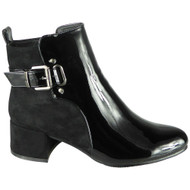 Finley Black Ankle Party Shiny Buckle Boots