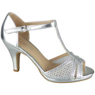 Juniper Silver Peeptoe Bridal Party Sandals