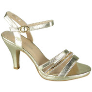 Taliyah Gold Peeptoe Bridemaid party Sandals