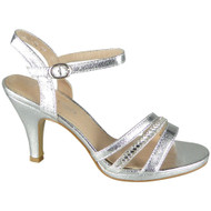 Taliyah Silver Peeptoe Bridemaid party Sandals