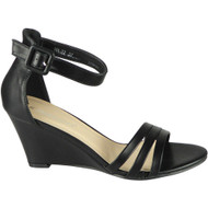 Amiyah Black Peeptoe High Heel Party Sandals