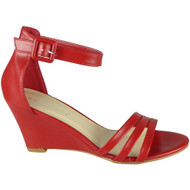 Amiyah Red Peeptoe High Heel Party Sandals