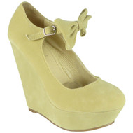 Kaia Biege High wedge Heel Platform Shoes