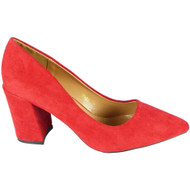 Ruth Red High Heel Party Court Shoes