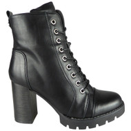Margo Black High Heel Platform Fashion Boots