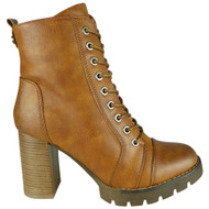 Margo Camel High Heel Platform Fashion Boots