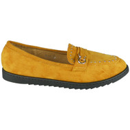 Annalee Yellow Loafer Shiny Office Work Shoes