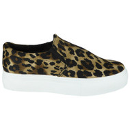 Jaelynn Leopard Trainer Slip On Pumps Shoes