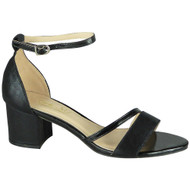 Cecilia Black Bridal Party Heel Sandal