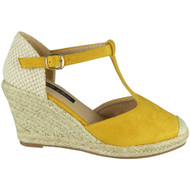 Elaine Yellow Espadrilles Summer Sandals