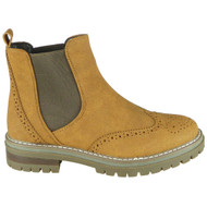 Tinley Camel Chelsea Brogue Fashion Work Shoes