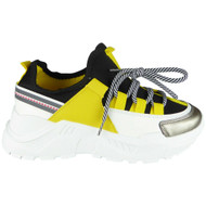 Jayle Yellow Trainer Platform Fashion Boots