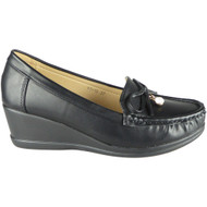 Arielle Black Lightweight Loafer Slip On Shoes