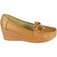 Arielle Camel Lightweight Loafer Slip On Shoes
