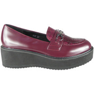 Ana Maroon Wedge Lightweight Slip On Shoes