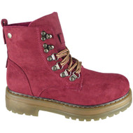 Floy Wine Lace Up Lined Ankle Boots